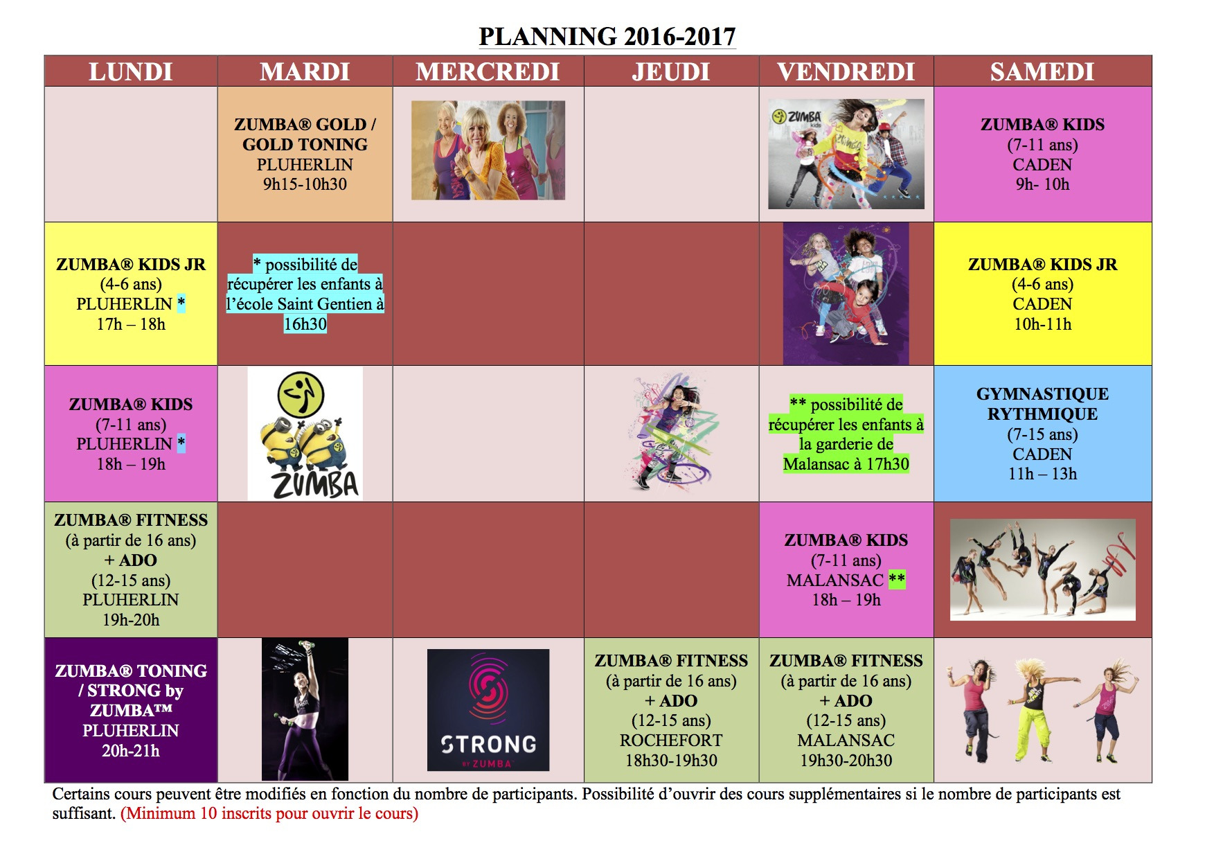 Favorit Planning des activités - IK32