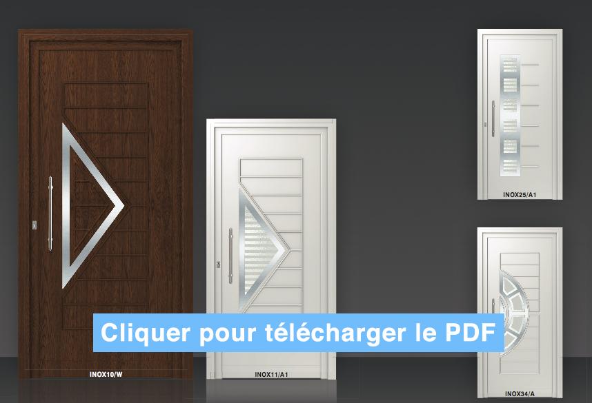 Porte d 39 entr e pvc panneaux d coratifs roumanie for Fabricant de menuiserie pvc